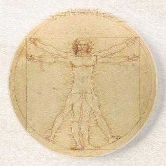 Vitruvian Man by Leonardo da Vinci Coaster