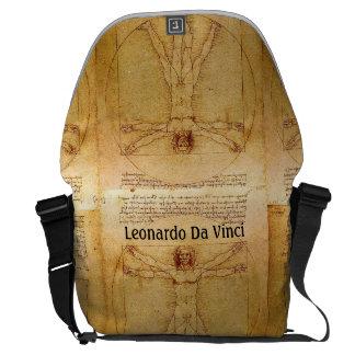 Vitruvian Man By Leonardo Da Vinci Commuter Bag
