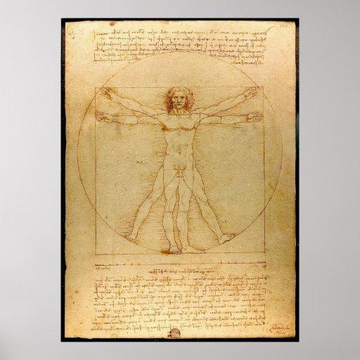 Vitruvian Man by Leonardo da Vinci Print