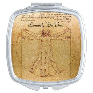 Vitruvian Man By Leonardo Da Vinci Vanity Mirrors