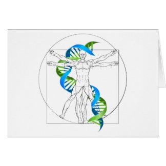 Vitruvian Man DNA Card