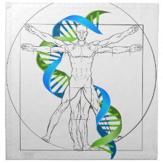 Vitruvian Man DNA Napkin