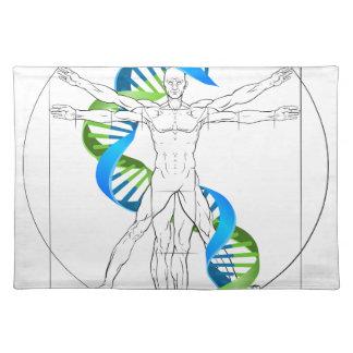 Vitruvian Man DNA Placemat