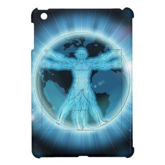 Vitruvian Man Earth World Globe Background Cover For The iPad Mini