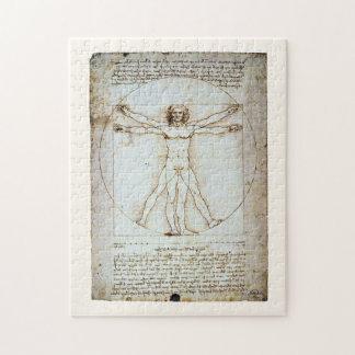 Vitruvian Man, Leonardo da Vinci, circa 1490. Jigsaw Puzzle