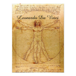 Vitruvian Man-Leonardo Da Vinci Photo Art