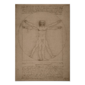Vitruvian Man -- Leonardo da Vinci Poster