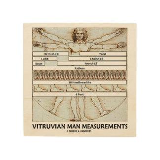 Vitruvian Man Measurements Leonardo da Vinci Wood Wall Art