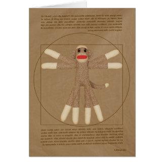 Vitruvian Monkey greeting card