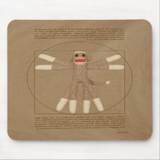 Vitruvian Monkey Mousepad