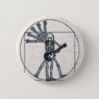 Vitruvian Skeleton 6 Cm Round Badge
