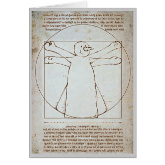 Vitruvian Snowman Card