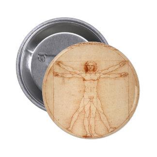 Vitruviano Man 6 Cm Round Badge