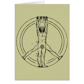 Vitruvians for Peace Greeting Card