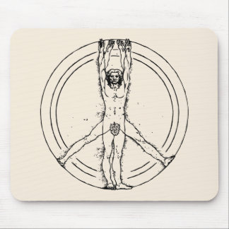 Vitruvians for Peace Mouse Pad