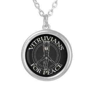 Vitruvians for Peace Round Pendant Necklace