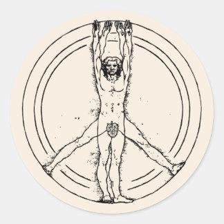 Vitruvians for Peace Sticker