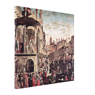 Vittore Carpaccio - Miracle of the Holy Cross Canvas Prints