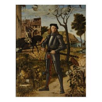 Vittore Carpaccio - Young Knight in a Landscape Postcard