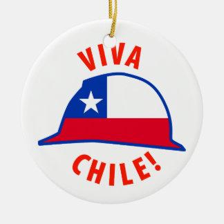 Viva Chile! Round Ceramic Decoration