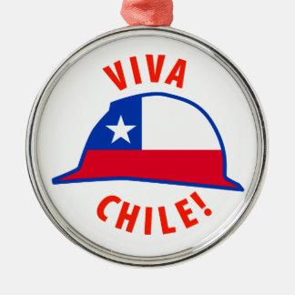 Viva Chile! Silver-Colored Round Decoration