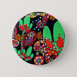 VIVA CINCO DE MAYO ART 6 CM ROUND BADGE