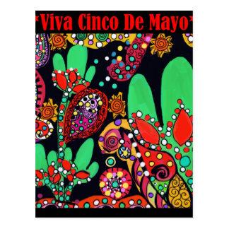 VIVA CINCO DE MAYO ART POSTCARD