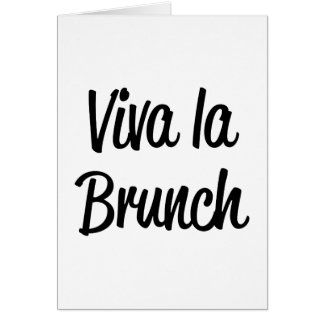Viva La Brunch Card