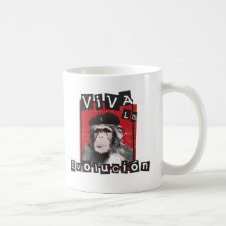Viva la Evolucion Ape Basic White Mug