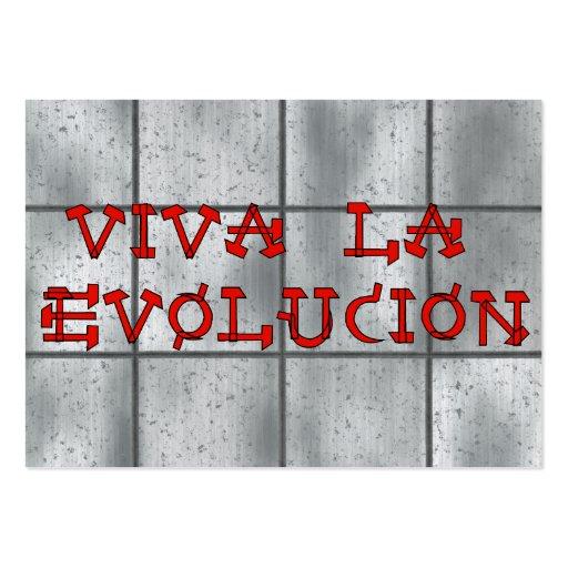 Viva La Evolucion Business Card
