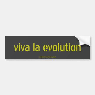 viva la evolution car bumper sticker