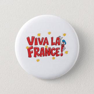 Viva La France 6 Cm Round Badge