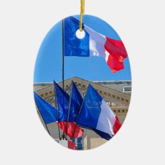 Viva la France Ceramic Oval Decoration