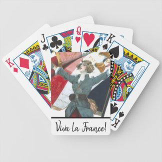 Viva la France Feminist Military Uniform and Flag Bicycle Playing Cards