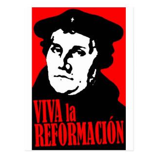 Viva la Reformacion LUTHER Postcard