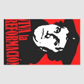 Viva la Reformacion LUTHER Rectangular Sticker