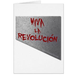 Viva la Revolucion Guillotine Greeting Card