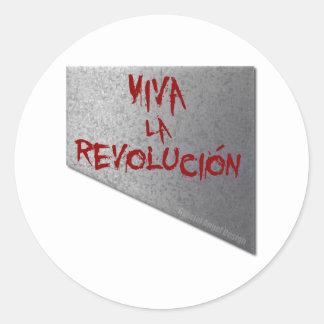 Viva la Revolucion Guillotine Round Sticker