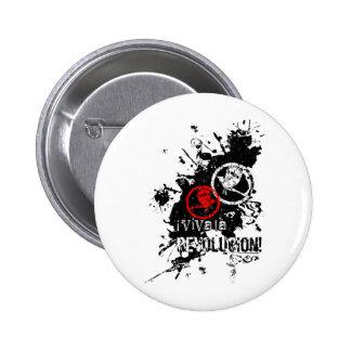 Viva La Revolucion Splattered Buttons