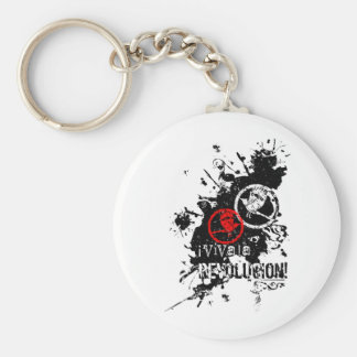 Viva La Revolucion (Splattered) Basic Round Button Key Ring