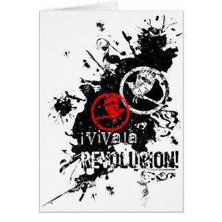 Viva La Revolucion (Splattered) Greeting Cards