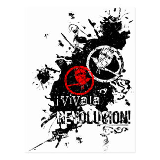 Viva La Revolucion Splattered Postcards