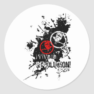 Viva La Revolucion (Splattered) Round Sticker