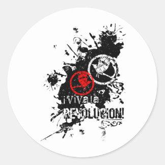 Viva La Revolucion (Splattered) Round Sticker