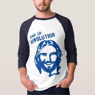 Viva La Revolution- Blue Sleeve/ Lettering T Shirt