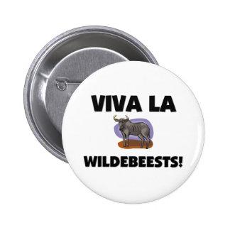 Viva La Wildebeests 6 Cm Round Badge