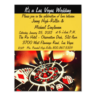 Viva Las Vegas Casino Theme Weddings 11 Cm X 14 Cm Invitation Card