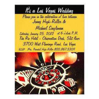 Viva Las Vegas Casino Theme Weddings Personalized Invite