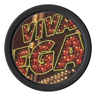 Viva Las Vegas Set Of Poker Chips