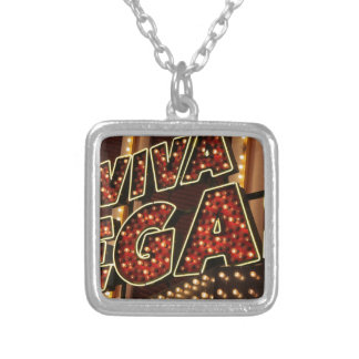 Viva Las Vegas Silver Plated Necklace